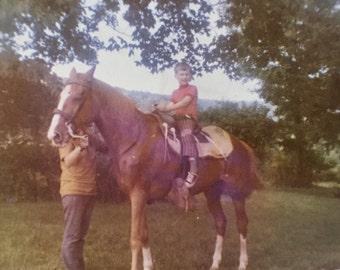 Original Vintage Color Photograph Jeff's First Ride