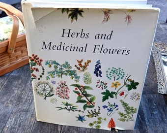 Herbs and Medical Flowers Book, Galhad West Germany Book, Floral Book, Gardening, Scientific Flora Fauna, Spring Flowers, CoffeeTableBook