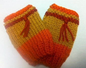 Firefly Inspired Fingerless Gloves: Cunning Fingerless Mitts to match a Wool-Free Cunning Hat