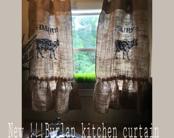 Burlsp farm house curtain