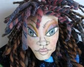 Wall Doll Outer Space Mermaid Faery Fairy Cloth Art Doll, Hanging Art Doll