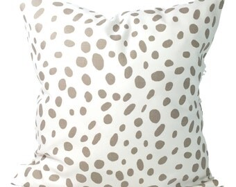 TAUPE PILLOWS, 14x14 inch Pillow Cover, Decorative Pillow, Tan Pillow, Pillows, Animal Pillow, Neutral Pillow, Animal Print Pillow. Cushion