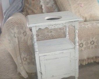 Beautiful Up cycled Antique Smoking Stand Table, Shabby chic, French Country, Eclectic