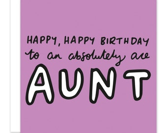 Happy Birthday To An Absolutely Ace Aunt Card