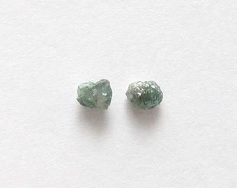 Natural Rough Blue Diamond, Unheated, Uncut, lot (2) of 0.48 carat
