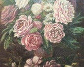 Very nice painting French oil painting. 1910 A bouquet.