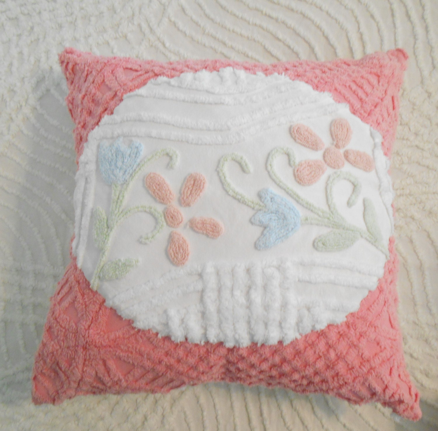 handmade pillows chenille pillow throw pillow handmade pillow cotton pillow 666