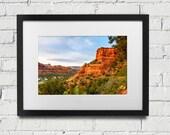 Sedona: Print Or Canvas Of Red Rocks Of Sedona Arizona At Sunset.  Soutwest Desert Home Decor Nature Landscape Photography Sedona AZ