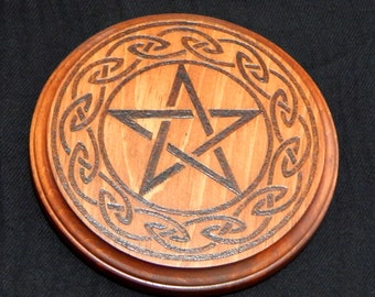Wood Altar Pentacle- Large