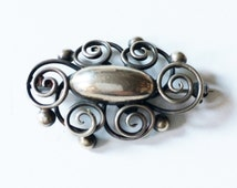 Fine Danish Modern .925 Sterling Silver Pin by Max Standager