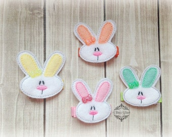 Easter Hair Clip Bunny Hair Clippie one or two. Pick Left side or Right.