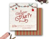 Holiday Party Invitation Cards--Cocktail Parties, Christmas Parties, Dinner Parties