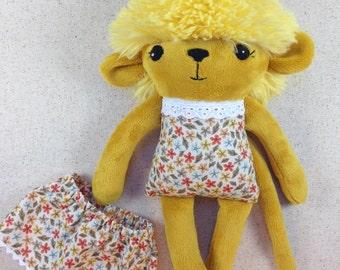 gold monkey plush