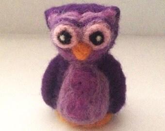 Needle Felted Purple Owl