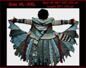 Elf coat, eLF sWEATER, size XL, size XXL, fairy, dress, women hoodie, sweater coat, patchwork , Recycled dress, OOAK, dream coat