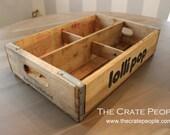 Vintage LolliPop Soda Pop Crates with 4 Dividers || Vintage Wood Crates || Lolli Pop Soda Crates