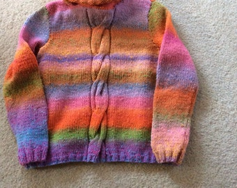 Lady's hand knitted chunky jumper