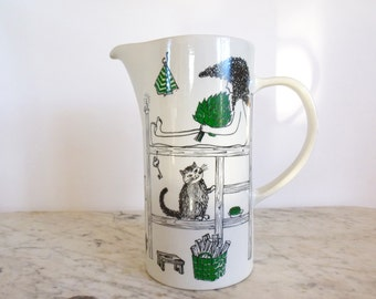 Vintage Arabia Finland Sauna Pitcher design Gunvor Olin-Grönqvist Hard to Find