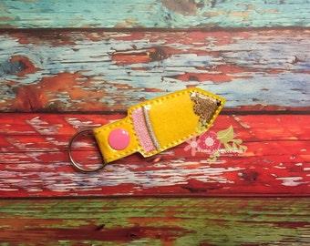School Mini Pencil Key Chain