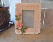 Beautiful ceramic picture frame lovely room decor your special photo