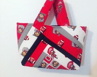 Ohio State Purse, Tote Bag, Hand Bag, Carrying Case, OSU, Bag, Football Bag, School Bag, Buckeyes, Ohio State Fan, Ohio State Accessories