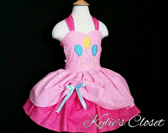 Pinkie Pie Inspired- MiniBelle Ruffle Dress for Girls - Pageant - Birthday - Party - Celebration - Special Occasion