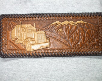 SEMI TRUCK wallet / billfold. truckers wallet (82)  ( I ship the same day as you order )
