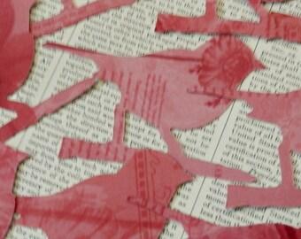 BIRD DIE CUTS Pink Mauve Burgundy Printed Acid Free Cardstock