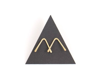 LEDA Brass Studs Earrings - SMALL | Gold Post | Stick Post | Bar Post | Sterling Silver | Stud Earrings | Metalwork Jewelry | Minimal Modern