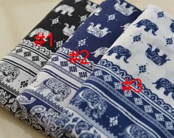 Elephant Rayon Fabric Cloth MJ479
