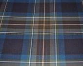 Holyrood tartan fabric. Poly viscose. Machine Washable. Price per half metre.