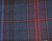 Welsh Evans Tartan Fabric. 100% 10oz Pure New Wool. Large Remnant Piece.