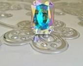 Large Swarovski AB crystal  ring
