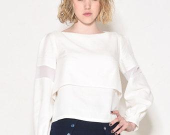 Layered white top