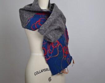 Cashmere Winter Scarf - Embroidered Cashmere Scarf - Alpaca Winter Scarf