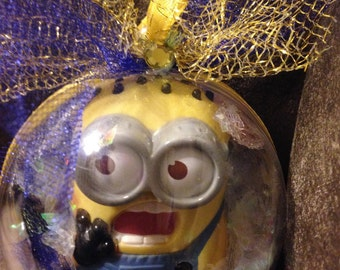 Minion globe ornament