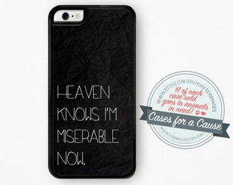 The Smiths iPhone Case / Morrissey iPhone 6 Case iPhone 4s Case iPhone 5C Case 5 iPhone 5s Case Heaven Knows I'm Miserable Now iPhone 6 Plus