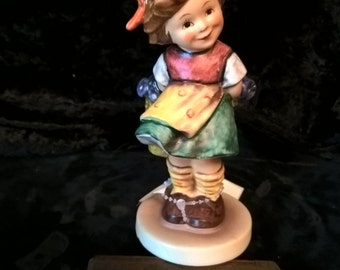 "Hummel Figurine ""Bashful""  #377  TMK-5"