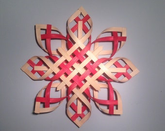 Scandinavian Star Christmas Star Topper Star of Bethlehem -Natural and Red Dyed - Extra Large