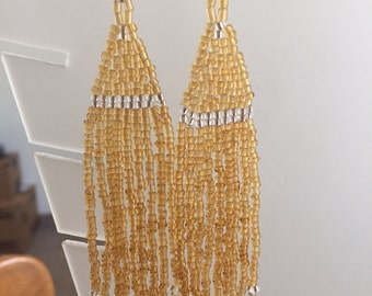 All Seed Bead Earrings 4""