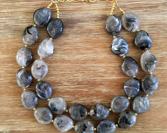The Smokey Grey Necklace