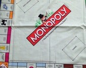 Monopoly cotton fabric 110cm by 60cm great fir patchwork or cushion.