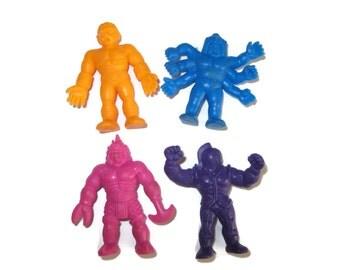 Retro MUSCLES purple blue orange pink toy lot 1980s 80s eighties toys