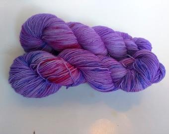 Catastrophe on Max 80/20 SW Merino Nylon Hand dyed fingering weight sock yarn
