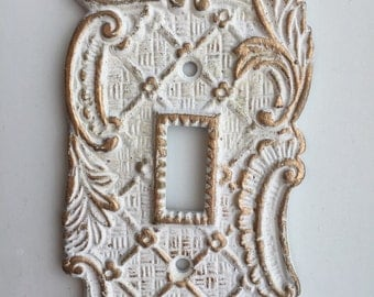 Brass tones switchplate