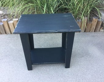Large Rustic End Table