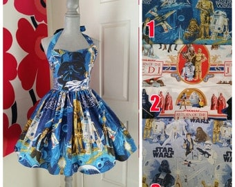 Custom Made to Order Star wars Sweet Heart Dress Sz Small to 2X