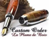 Custom order for Sarah - 2 fountain pen kit with engraving