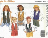 ON SALE Butterick 5022 Girls Fast & Easy Vest Pattern, Size 7-8-10 UNCUT