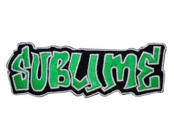 "Ska Punk Rock ""Sublime"" Classic Band Logo Apparel Iron On Applique Patch"